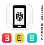 phone fingerprint icon. vector...