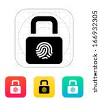fingerprint secure lock icon....