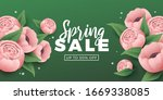 spring sale background with...   Shutterstock .eps vector #1669338085