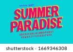 vintage 3d alphabet. retro...   Shutterstock .eps vector #1669346308