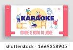 people sing in karaoke club... | Shutterstock .eps vector #1669358905