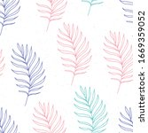 seamless pattern of multi... | Shutterstock .eps vector #1669359052