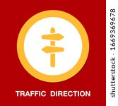 crossroad direction icon  ... | Shutterstock .eps vector #1669369678