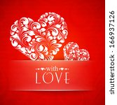 happy valentines greeting card. ... | Shutterstock .eps vector #166937126