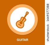 guitar symbol icon. simple...