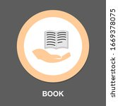 book hand concept icon. simple...