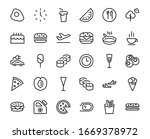a simple set of fast food... | Shutterstock .eps vector #1669378972