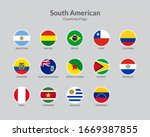 south american countries flag... | Shutterstock .eps vector #1669387855