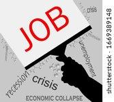 job in recession icon vector... | Shutterstock .eps vector #1669389148