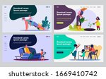 parents and kids practicing... | Shutterstock .eps vector #1669410742