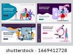 female professionals in... | Shutterstock .eps vector #1669412728