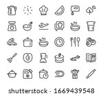 set of icons for cooking and... | Shutterstock .eps vector #1669439548
