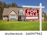 home for sale real estate sign... | Shutterstock . vector #166947962