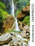 Machay Waterfall Near Banos...