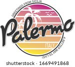 Palermo In Italy  Vector...