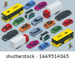 flat 3d isometric high quality... | Shutterstock .eps vector #1669514365