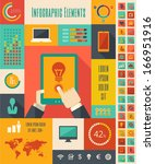 IT Industry Infographic Elements. Vector Illustration EPS 10. - stock vector