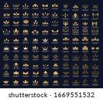 set of modern crown logo... | Shutterstock .eps vector #1669551532