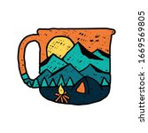 coffee camping nature wild...   Shutterstock .eps vector #1669569805