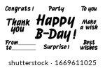 set of birthday celebration... | Shutterstock .eps vector #1669611025
