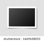 vintage photo frames. retro... | Shutterstock .eps vector #1669638052