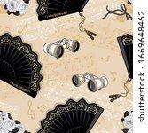lace fan   opera glasses... | Shutterstock .eps vector #1669648462
