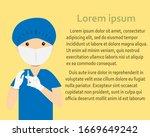 surgeon preparing to inject... | Shutterstock .eps vector #1669649242