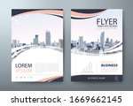 flyer design  city landscape... | Shutterstock .eps vector #1669662145
