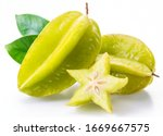 Carambola Fruit With Slice Of...