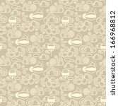 vector trendy seamless pattern... | Shutterstock .eps vector #166968812