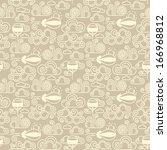 vector trendy seamless pattern... | Shutterstock .eps vector #166968812