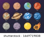 set of planet illustration.... | Shutterstock .eps vector #1669719838