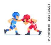 Boxing Among Kids. Children...