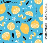 summer seamless pattern with...   Shutterstock .eps vector #1669730218