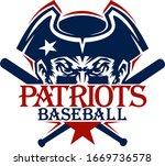 patriots baseball team design...   Shutterstock .eps vector #1669736578