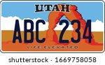 vehicle licence plates in utah   Shutterstock .eps vector #1669758058