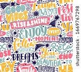 lettering seamless pattern... | Shutterstock .eps vector #1669767298