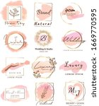 set of hand drawn watercolor... | Shutterstock .eps vector #1669770595
