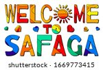 welcome to safaga. multicolored ...   Shutterstock .eps vector #1669773415