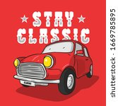 classic cars with vintage style | Shutterstock .eps vector #1669785895