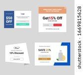 pop up overlay offer banner... | Shutterstock .eps vector #1669815628