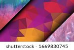 geometric design. colorful... | Shutterstock .eps vector #1669830745