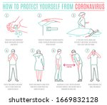 protective measures against the ... | Shutterstock .eps vector #1669832128