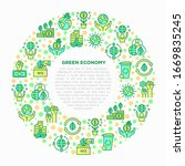 green economy concept in circle ... | Shutterstock .eps vector #1669835245