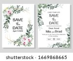 floral template for a wedding... | Shutterstock .eps vector #1669868665