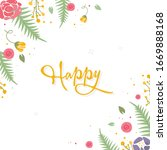 beautiful floral card with...   Shutterstock .eps vector #1669888168