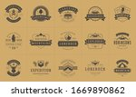 camping logos and badges... | Shutterstock .eps vector #1669890862