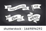 ribbon banner. set of black and ... | Shutterstock . vector #1669896292