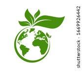 ecology world symbol  icon. eco ...   Shutterstock .eps vector #1669926442