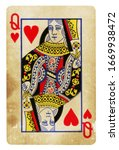 Queen Of Hearts Vintage Playing ...